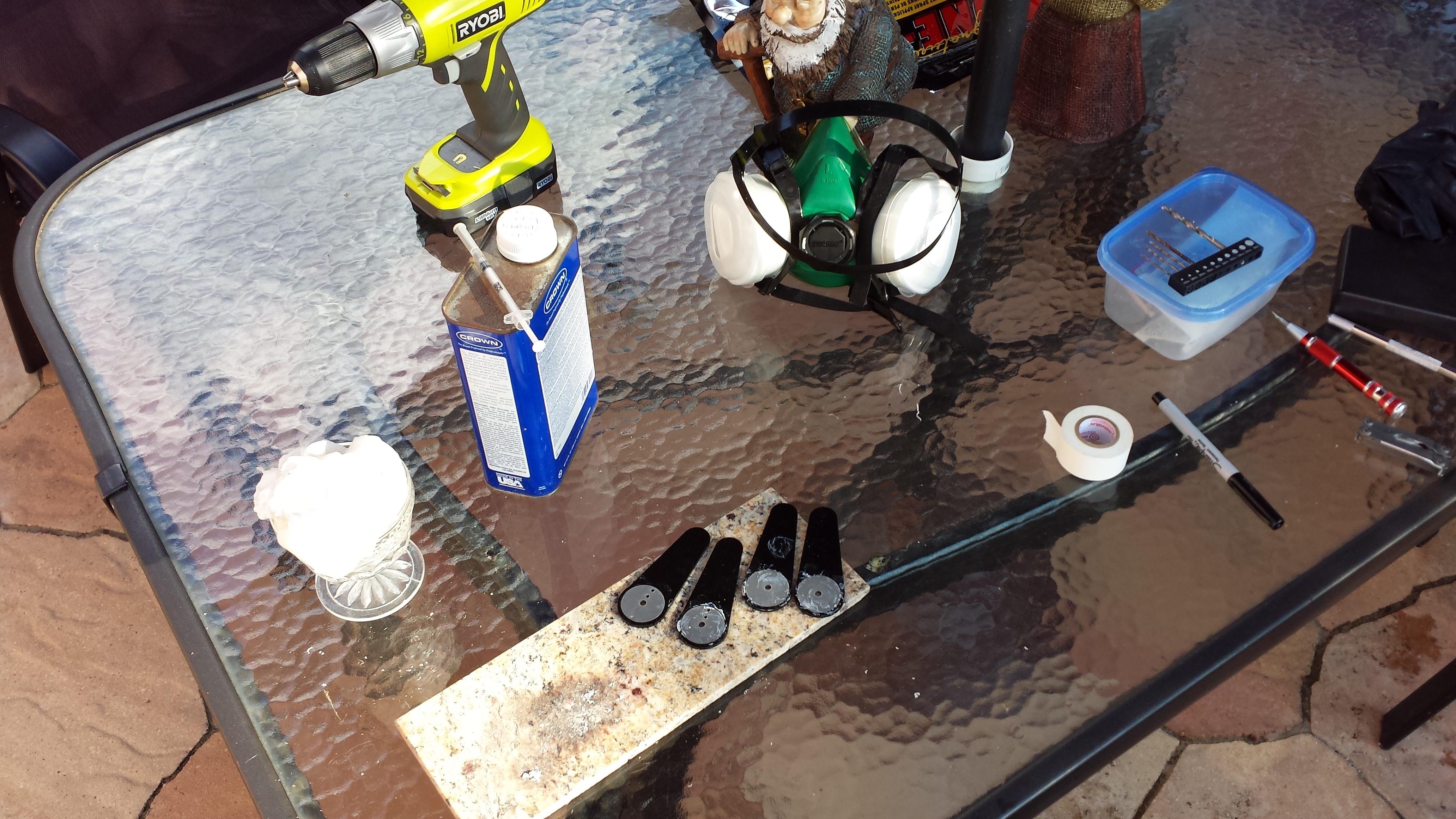 Solvent welding acrylic.